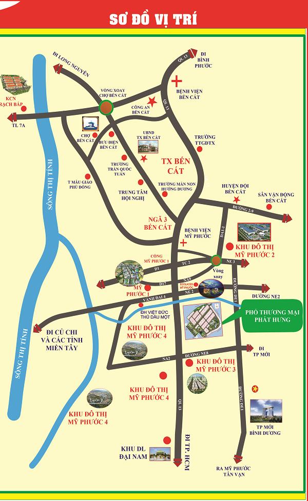 sơ đồ vị trí phố thương mại phát hưng